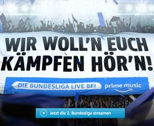 Amazon Music Fußball Live Audio-Stream 1. & 2. Bundesliga