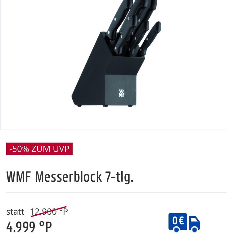 WMF Messerblock 7-teilig bei Payback-versandkostenfrei