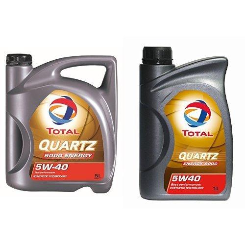 (Amazon Prime) Total Quartz 9000 5W-40 Motorenöl, 6 Liter (5L + 1L)