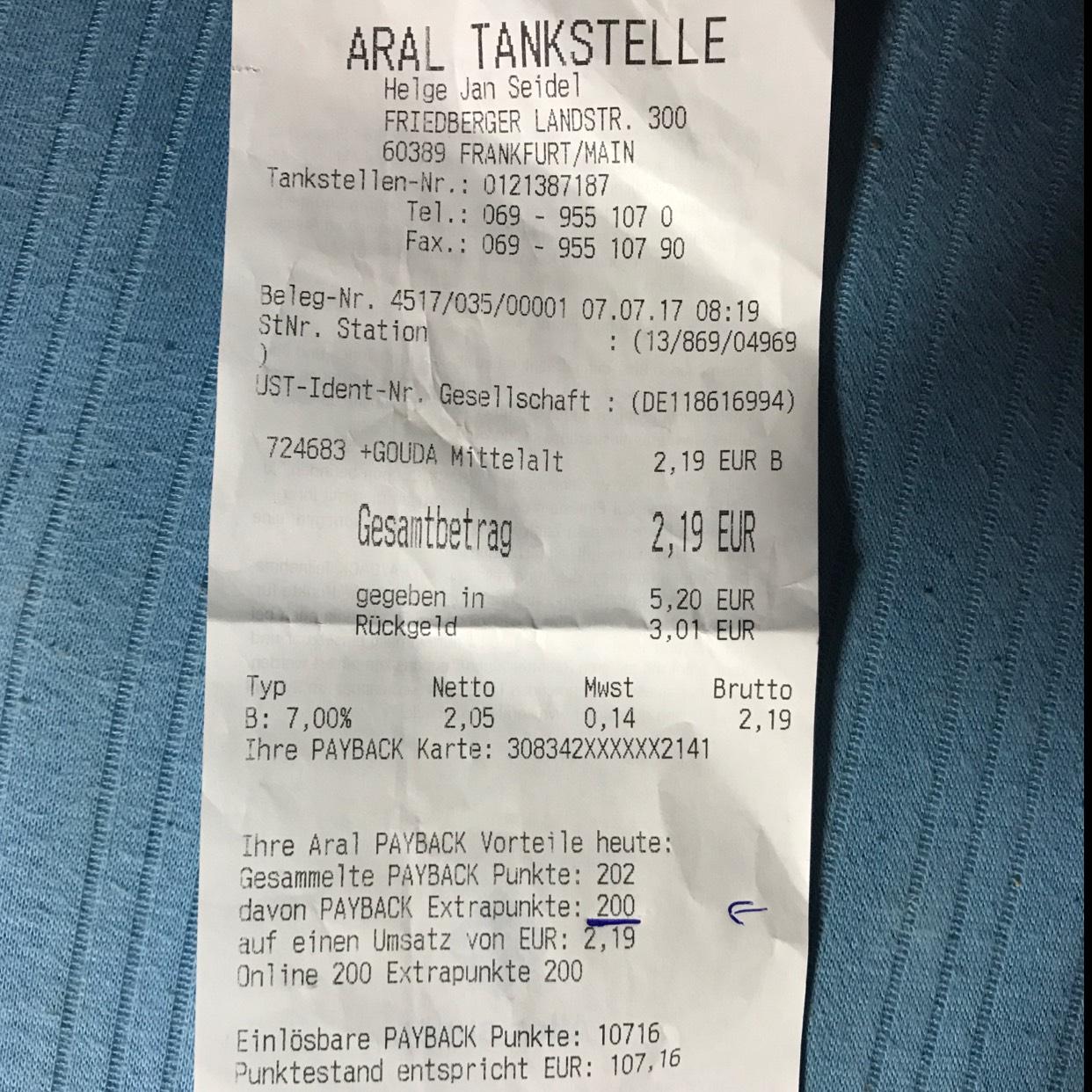 Fast kostenlos käse, joghurt, brötchen bei Rewe to go in aral tankstellen dank payback-coupon