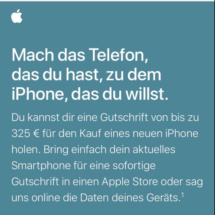325€ plus seinem alten iPhone 6 zu einem iPhone 7 wandeln