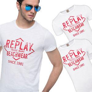 3er Pack Replay T-Shirts, Herren, weiß für nur 16,99€