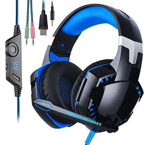 Gaming Headset Wired Over-Ear-Kopfhörer mit Mikrofon für PS4 New Xbox One PC mit Prime für 14,99€