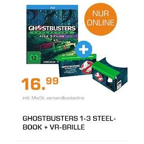 Ghostbusters Collection (PopArt Steelbook Edition 1-3) (Blu-ray) Limited Edition 14,99€ versandkostenfrei (Saturn + Amazon Prime)