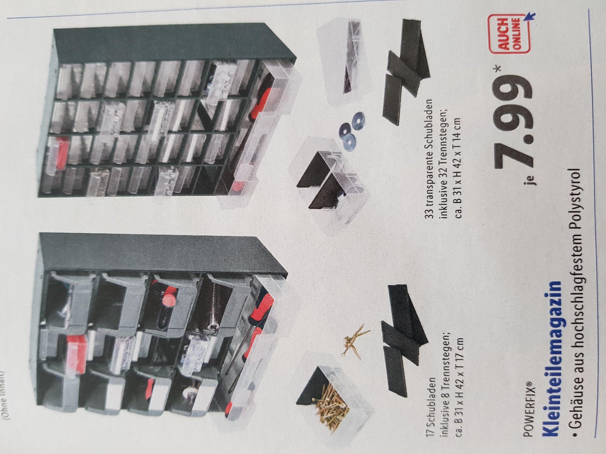 [Lidl] Kleinteilmagazin mit 17 oder 33 Schubladen
