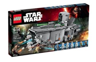 Lego Angebote in der Übersicht [real] z.B. Lego 75103 Star Wars - First Order Transporter für 54,99€ statt ca. 94€