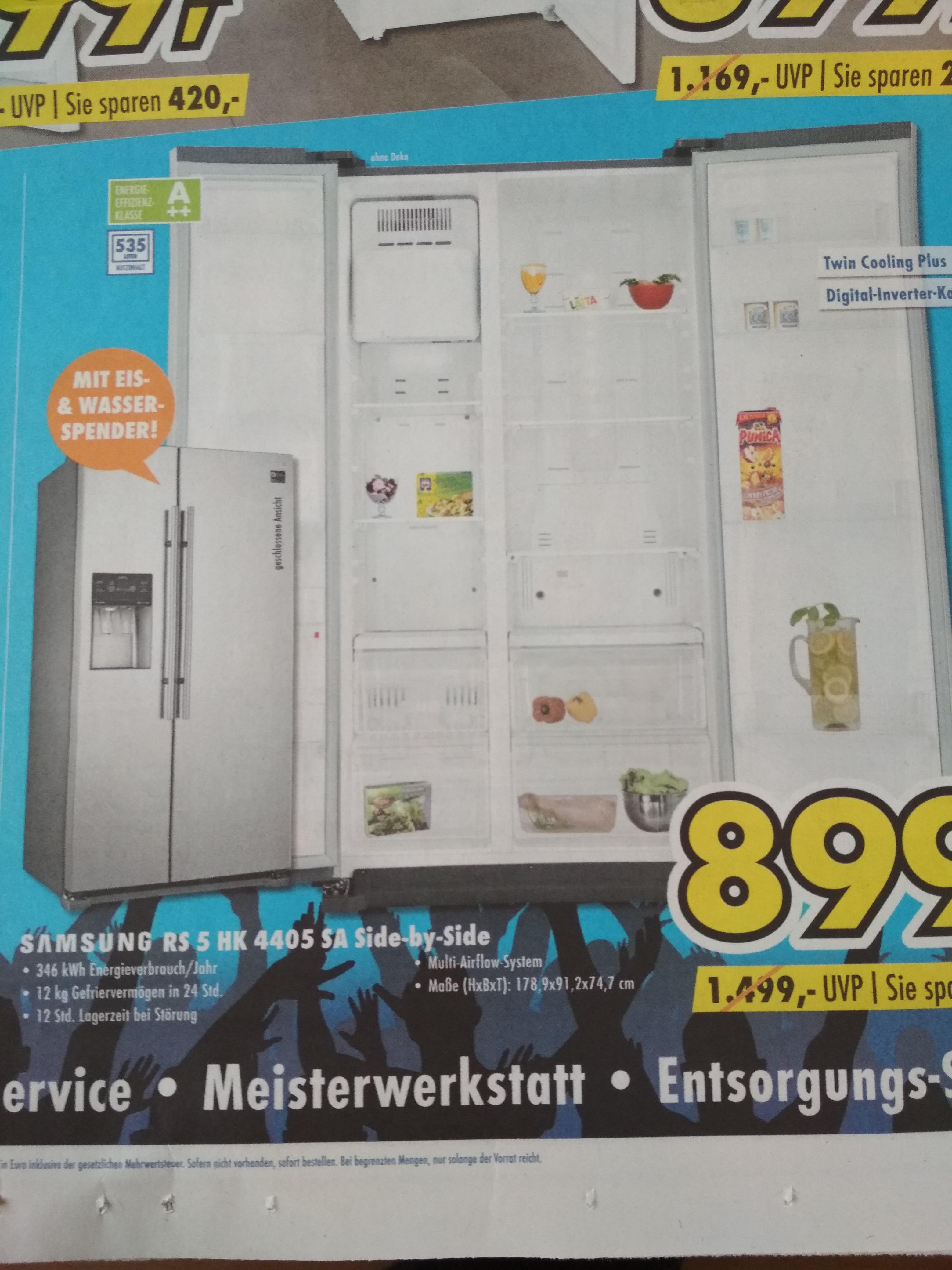 (Lokal) Euronics Meppen + Fürstenau Samsung RS5HK4405SA Side by Side Kühlschrank für 899€ statt 1099€