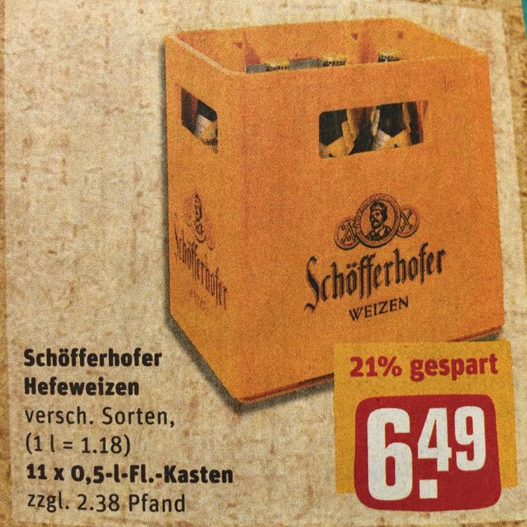 Schöfferhofer Weizen 11er bei Rewe ab 10.07.