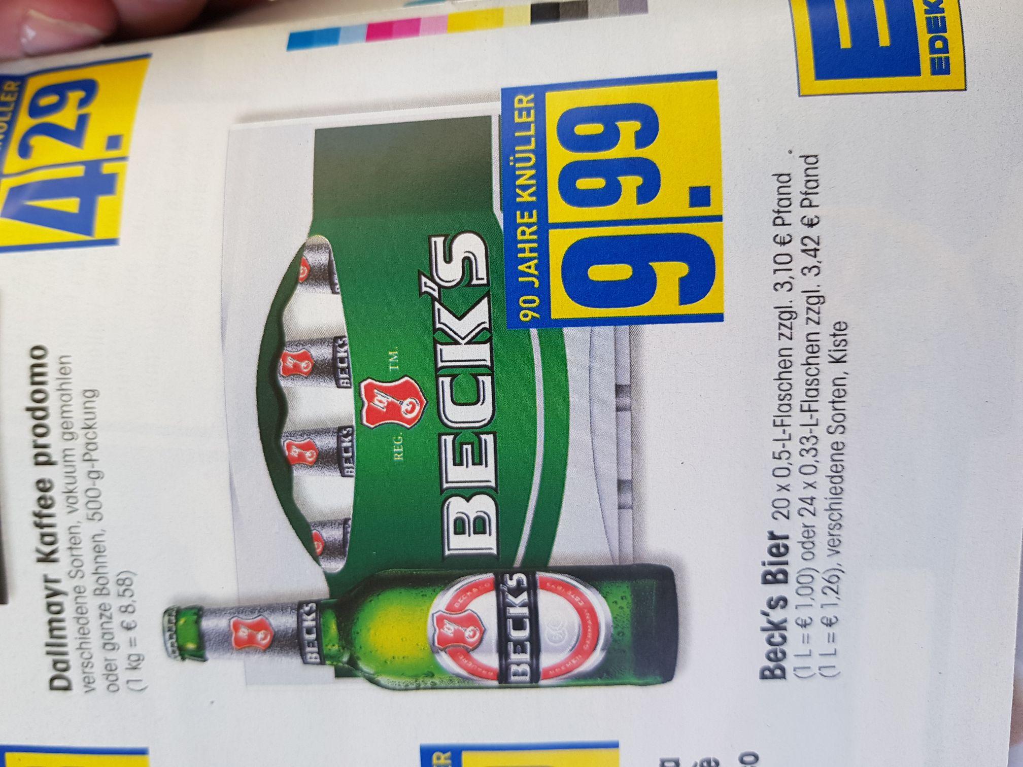 [Edeka] Beck's Bier verschiedene Sorten (10.07-15.07)