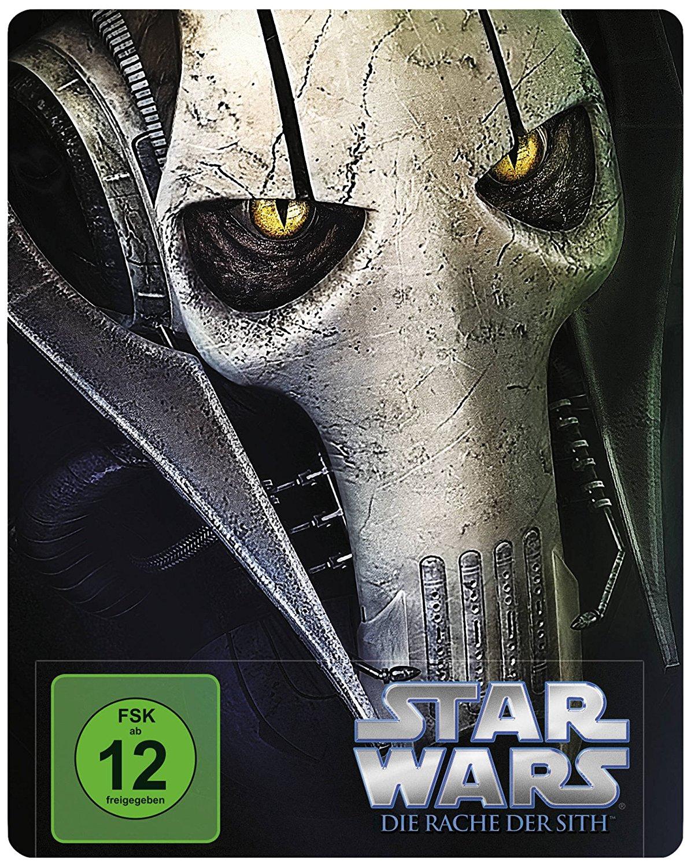 Star Wars: Episode III Die Rache der Sith (Steelbook) (Blu-ray) für 9€ & Star Wars - Angriff der Klonkrieger (Steelbook) (Blu-ray) für 9€ versandkostenfrei (Media Markt)