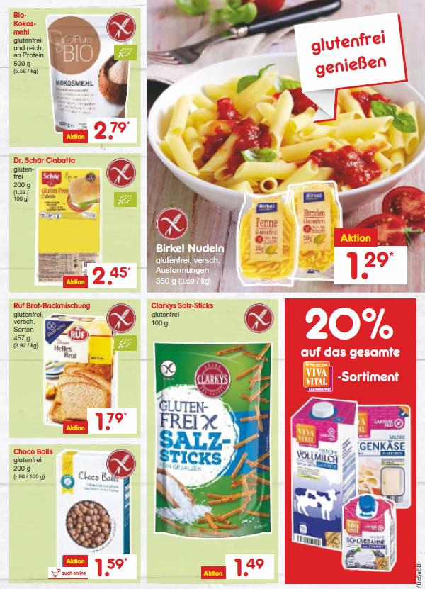 [Netto] glutenfreie Produkte im Angebot Juli 2017
