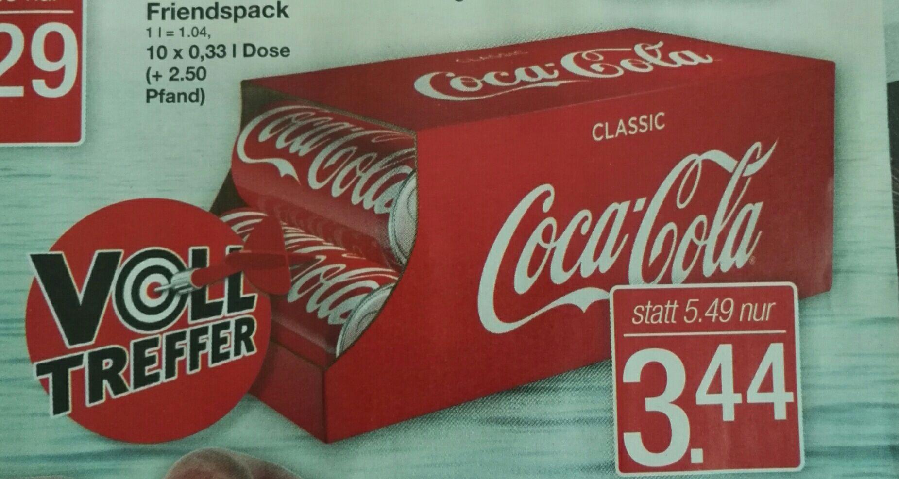 Markant (Lokal?)Coca Cola Friendspack 10x0,33 l Dose für 3,44€ zzgl. Pfand!