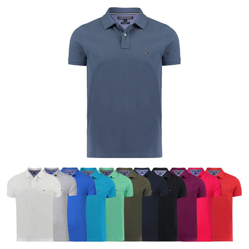 Tommy Hilfiger Herren Poloshirt Slim Fit S M L XL XXL schwarz weiß blau rot NEU für 31,92 € [engelhorn@eBay]