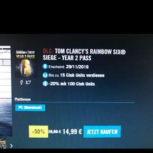 Rainbow Six Siege Season Pass 2 UPLAY