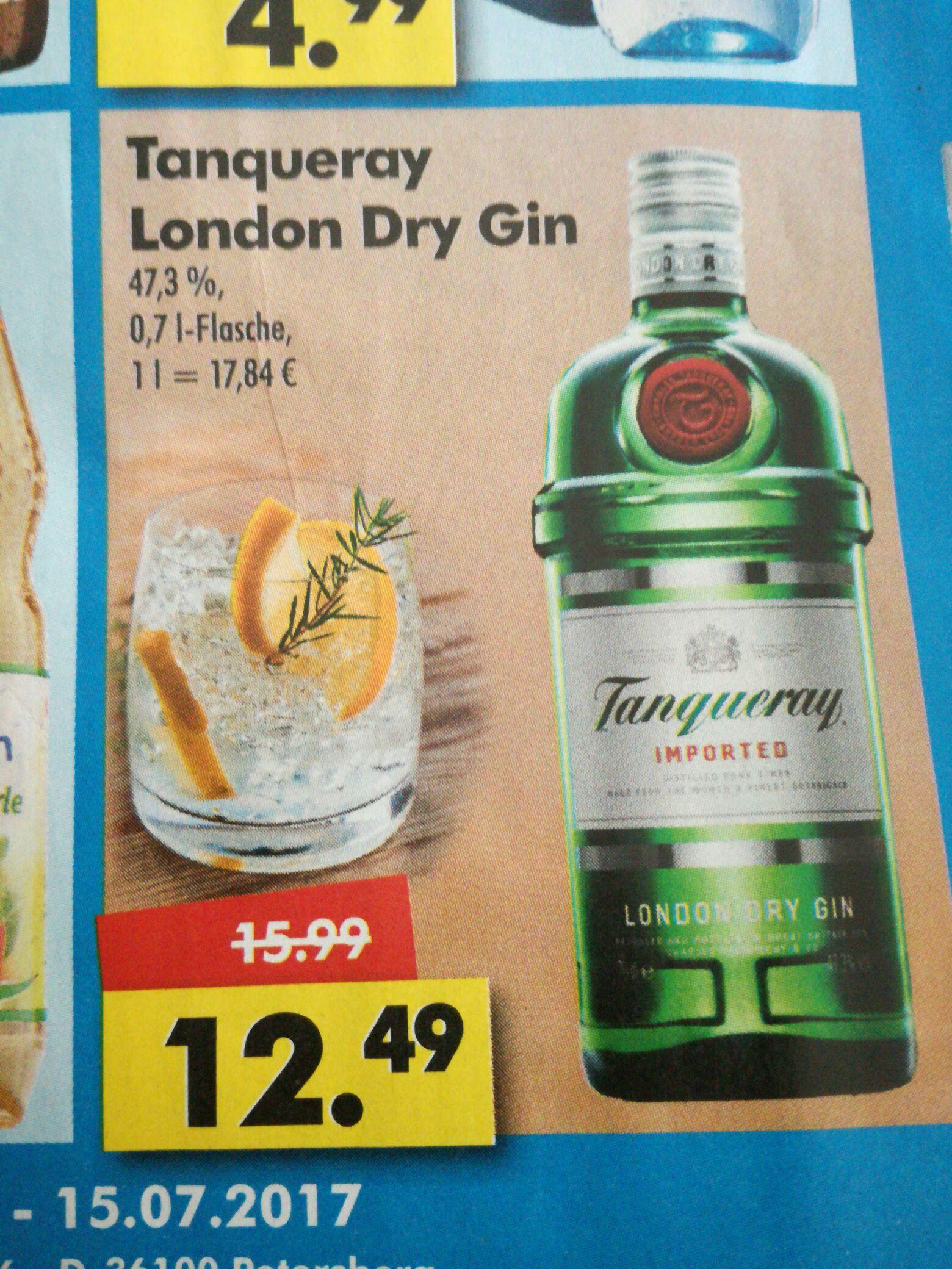 (Logo Getränkemarkt) Tanqueray London Dry Gin 0,7 Liter