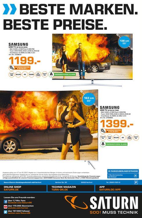 "[Lokal Saturn Herford ] Samsung 65"" KS7590 UHD Curved LED TV"