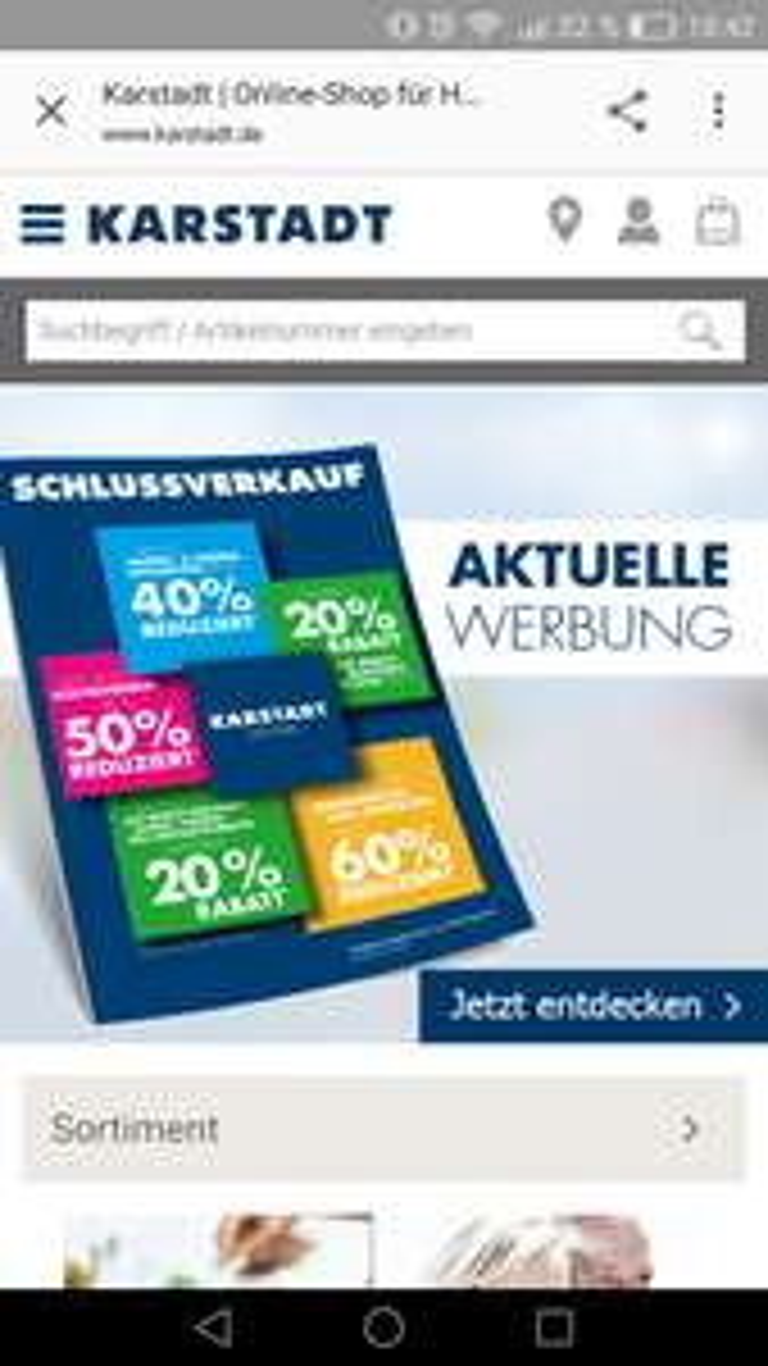 Karstadt Online Wochenendkracher mit bis zu 50% Rabatt auf ausgewählte Kategorien!**