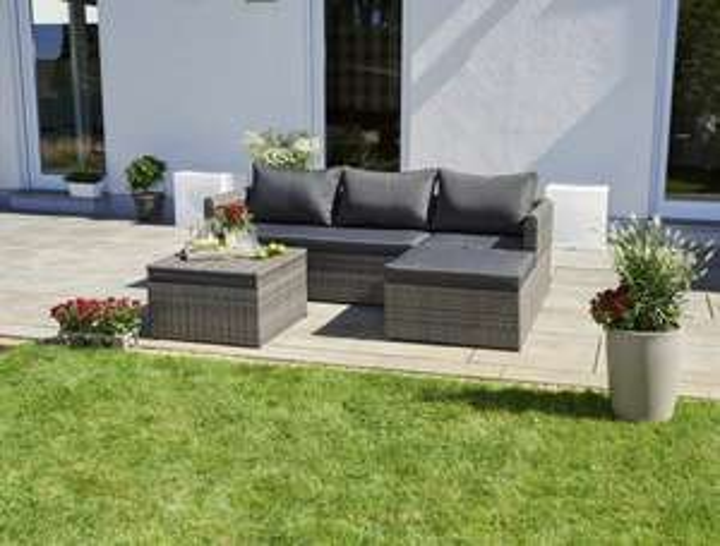 Lounge Set Greemotion Ibiza Polyrattan und Aluminiumgestell