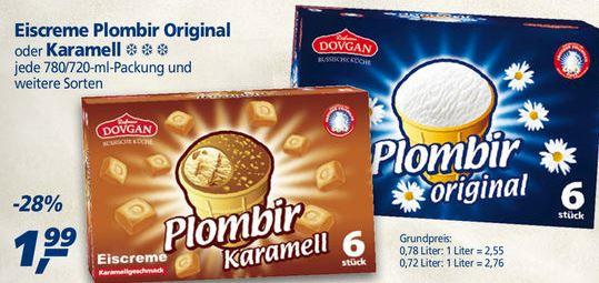 [Real] Plombir Eis, original od. karamell 1,99 €