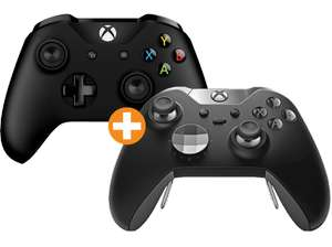 [Saturn Österreich ...Schnell Sein) MICROSOFT Xbox One ELITE Wireless Controller + Xbox One Wireless Controller New weiß oder MICROSOFT Xbox One ELITE Wireless Controller + 1 Xbox One Wireless Controller New schwarz für je nur 60,-€
