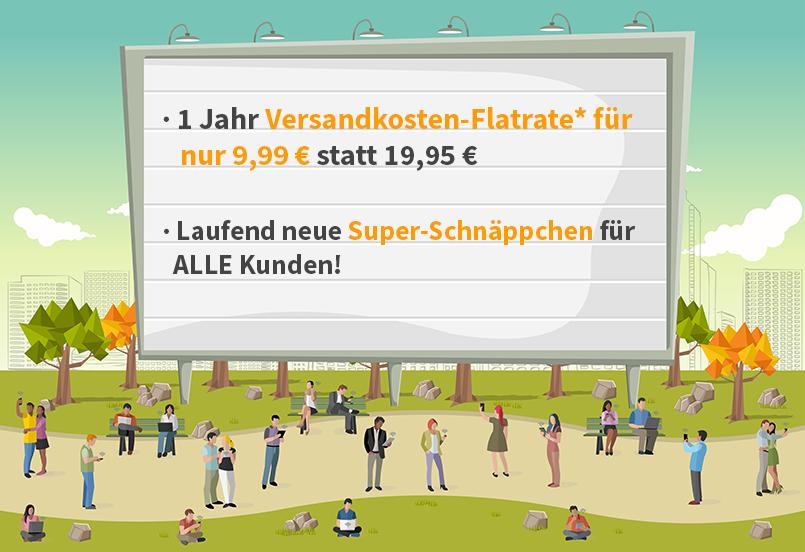 1 Jahr Versandkostenflatrate für 9,99 € (sonst 19,95 €) bei voelkner.de - Prima Day