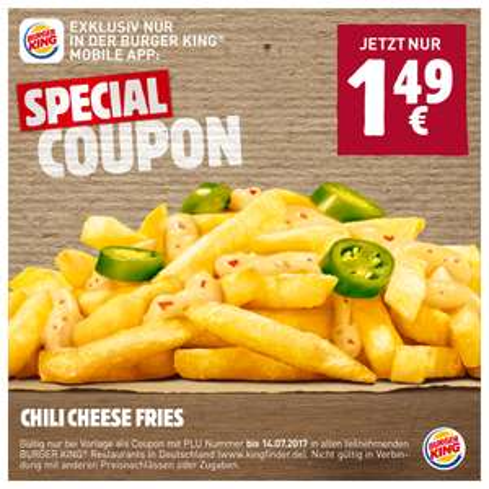 [Burger King] Chili Cheese Fries für 1,49€