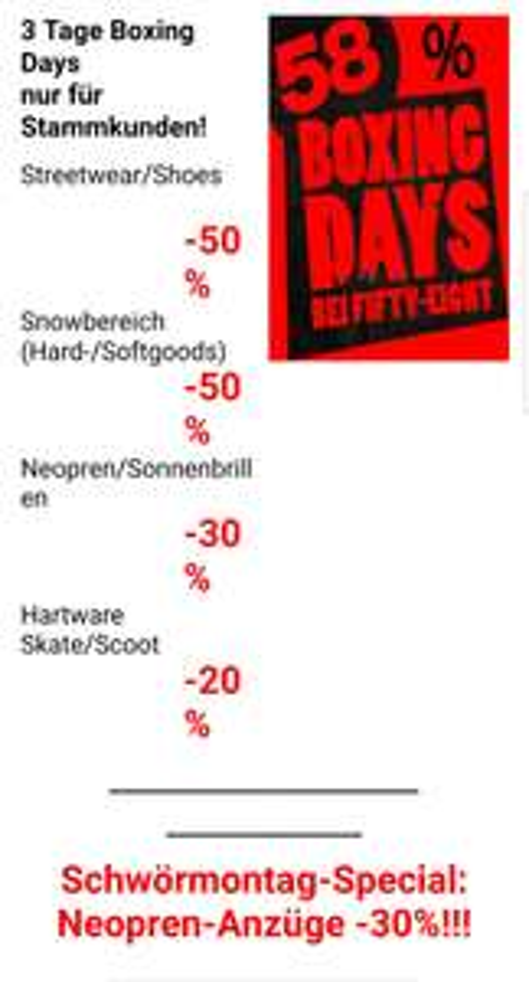 [Ulm] 58 Boxing Days 13-15.07 bis zu 50% Rabatt