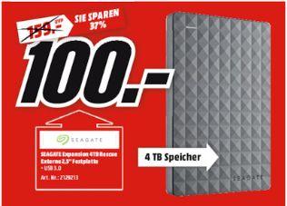 [Lokal Mediamarkt Plauen ab Mittwoch] SEAGATE 4 TB Expansion Portable Rescue Edition STEA4000200, Externe Festplatte, 2.5 Zoll für 100,-€