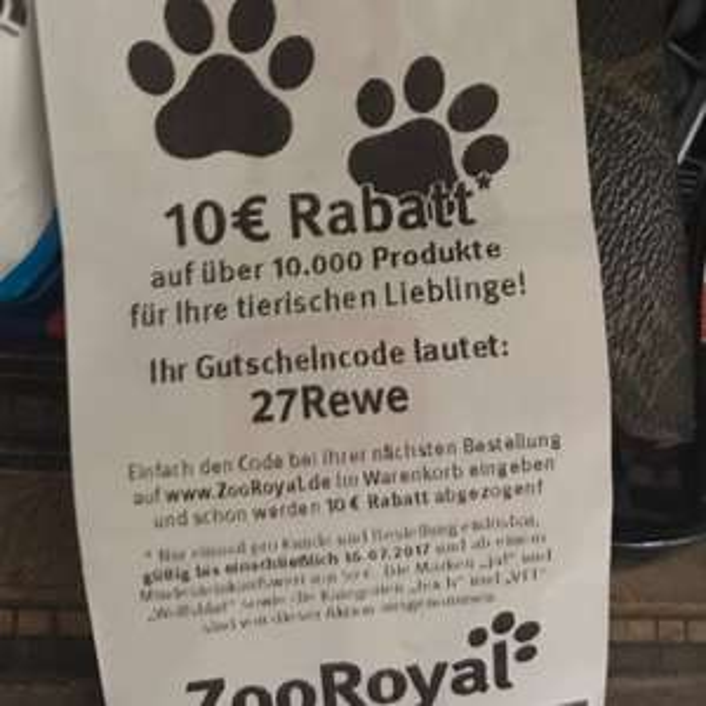 10€  Rabatt bei Zooroyal; 59€ MBW