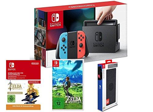 Nintendo Switch + Breath of the Wild + DLC + Tasche