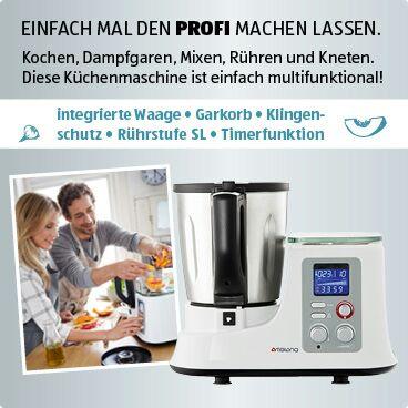 Ambiano Küchenmaschine mit Kochfunktion *Lokal* Aldi-Süd Langerwehe