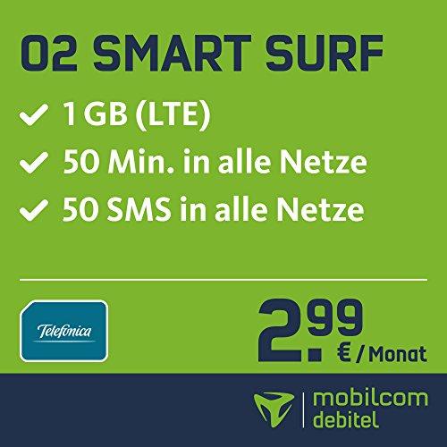 mobilcom-debitel o2 (50 50 1GB LTE) für 2,99 € auf der Rechnung @ Prime Day