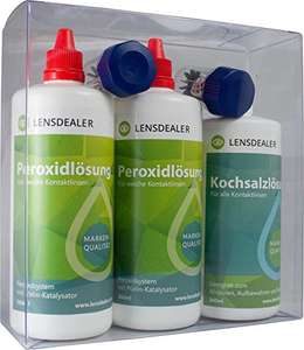 Prime Day - Kontaktlinsen Multipack: 2x Peroxidlösung + 1x Kochsalzlösung für 21,90€ statt 27,90€ bis 0Uhr
