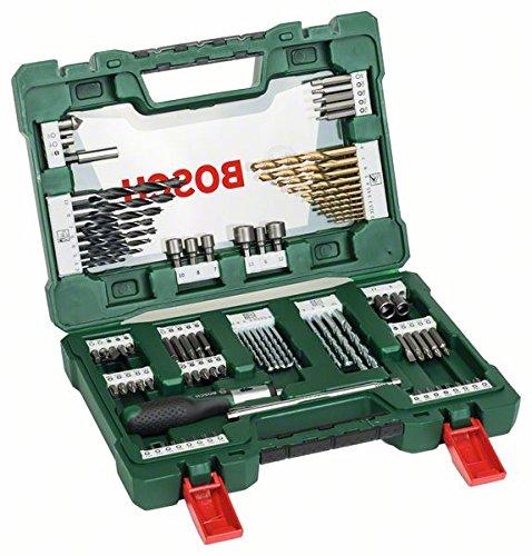 Bosch DIY 91tlg. V-Line Titanium-Bohrer- und Bit-Set mit Ratschen-Schraubendreher und Magnetstab