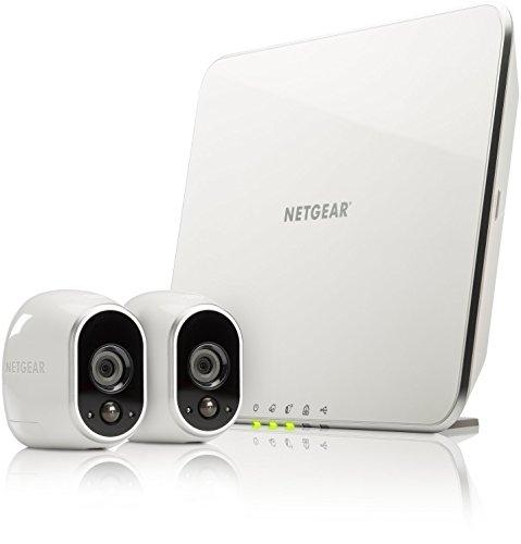 (Prime Day) Netgear Arlo VMS3230-100EUS Smart Home 2 HD-Überwachung Kamera-Sicherheitssystem (100% kabellos, Indoor/Outdoor, Bewegungssensor, Nachtsicht) weiß