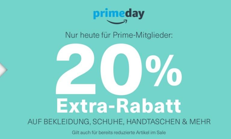 AMAZON: 20% auf Schuhe, Bekleidung, Handtaschen usw. (Kombinierbar mit Amazon Prime Deals)
