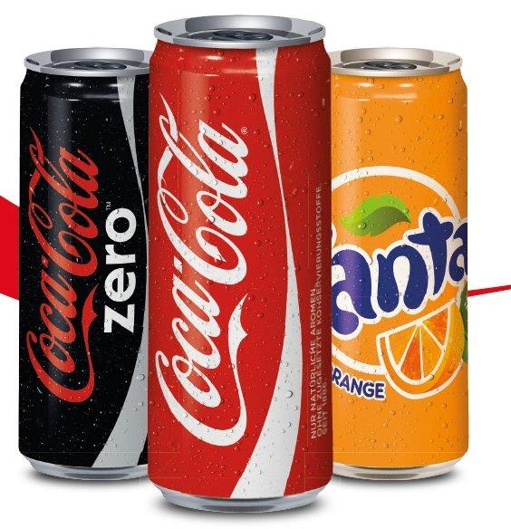 [Amazon Prime] Cola, Cola Light, Cola Zero, Fanta, Sprite, Mezzo Mix 24*0,33 Dosen für jeweils 7,03