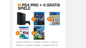 PS4 PRO 1TB MIT HORIZON - ZERO DAWN & WIPEOUT - OMEGA COLLECTION & Prey (Day One Edition) & That's you!