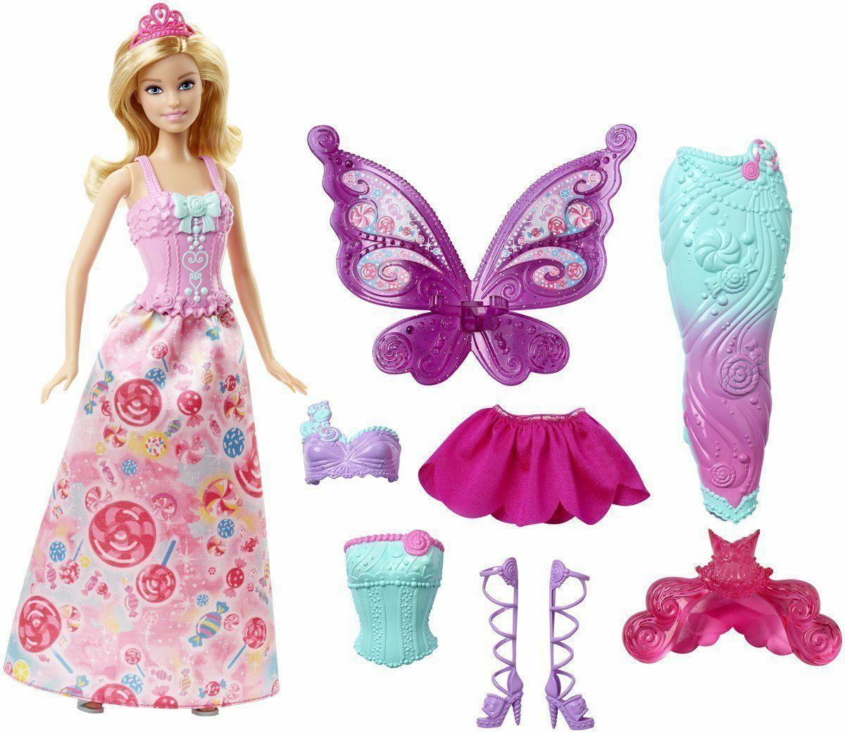 [Amazon Prime Day] Mattel Barbie DHC39 Dreamtopia Bonbon Königreich 3-in-1 Fantasie Barbie Puppe