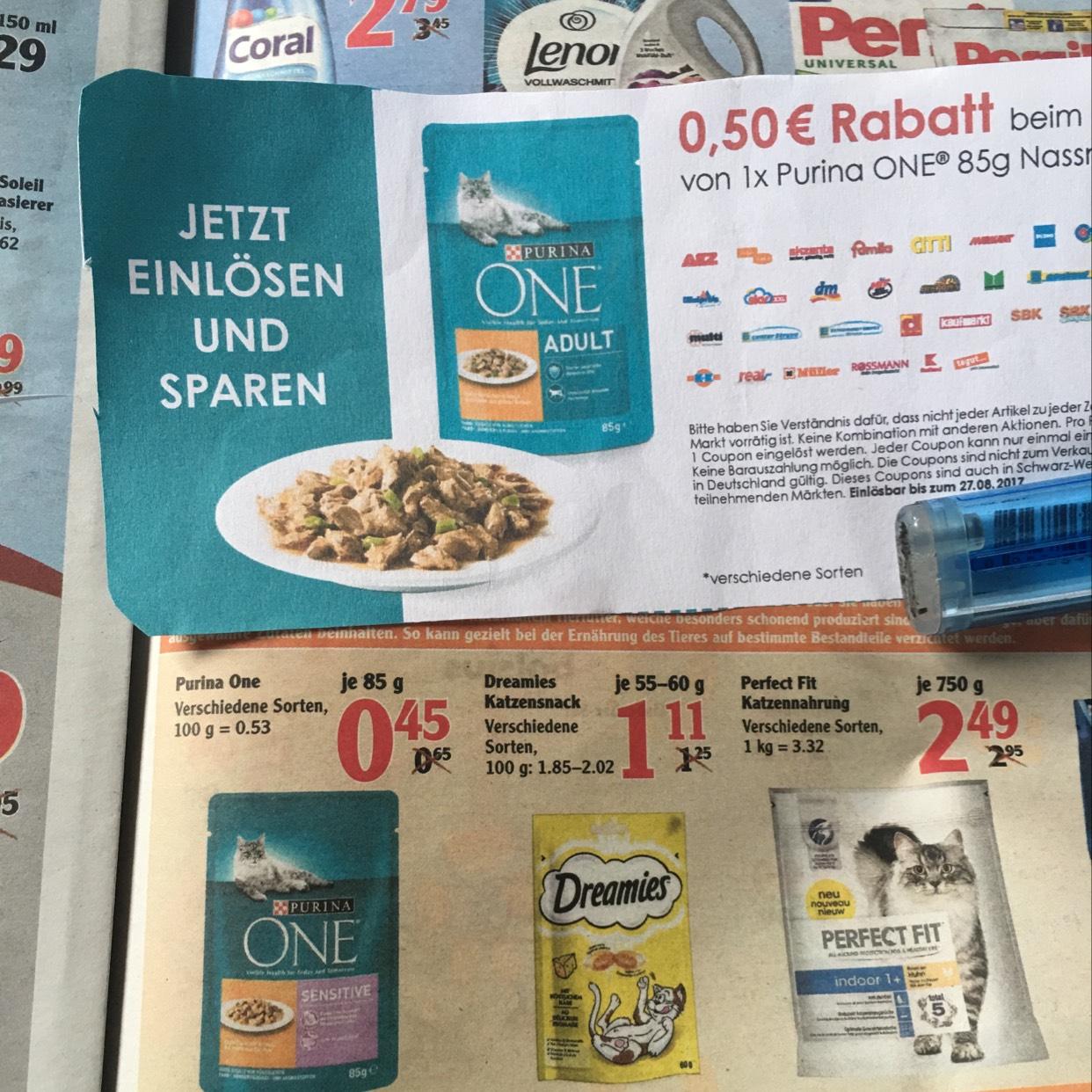 Nullkauf bei Purina 85g Päckchen