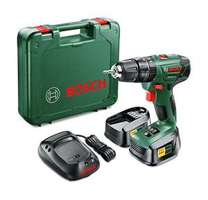 Amazon UK - Bosch PSB 1800 LI-2 Cordless Combi Drill mit zwei 18 V Lithium-Ion Akkus