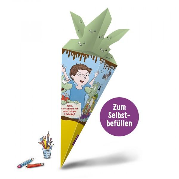 Zum Schulstart: Personalisierte Schultüte und Kinderbuch