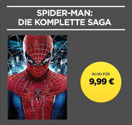 Spider-Man-Saga (5 Kauffilme) in HD für 9,99€