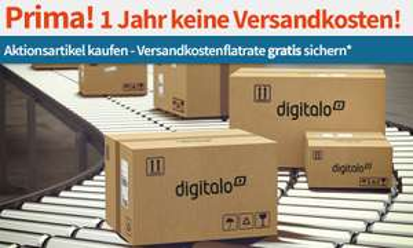 digitalo Versandkosten Flatrate für 12 Monate