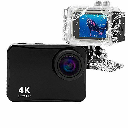 """[Amazon Prime Day] Action Cam - 4K - 16 MP - WIFI - wasserdichtes Gehäuse - 60m Tauchtiefe - 150 Grad Weitwinkel - 2"""" LCD Bildschirm"""