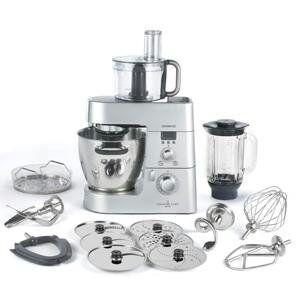 Kenwood Cooking Chef KM096 Küchenmaschine, 1.500 W, Induktion 20-140°C, 6,7 l Füllmenge, 1,6 l ThermoResist Glas-Mixaufsatz, 1,2 l Multi-Zerkleinerer