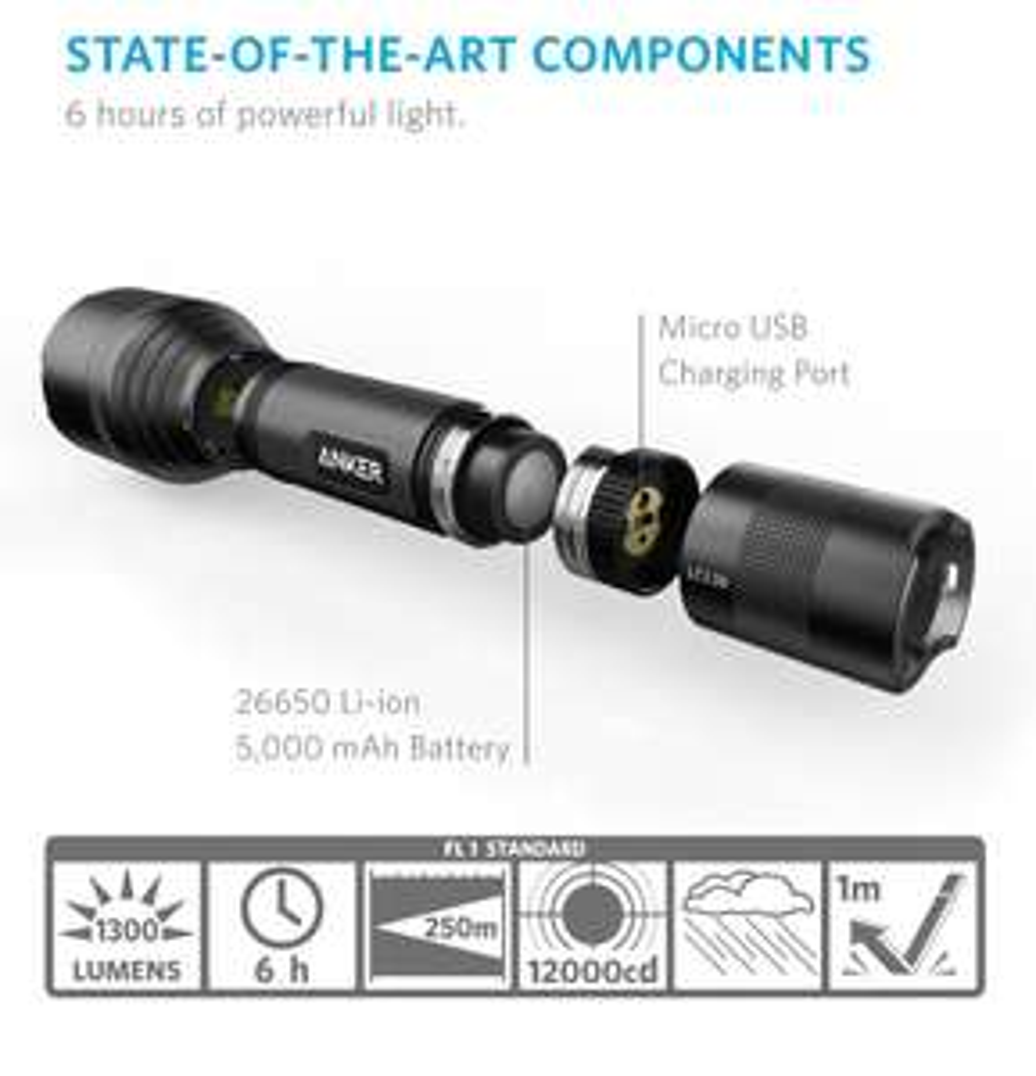 [Amazon Prime(Day)] Große Anker Led-Taschenlampe