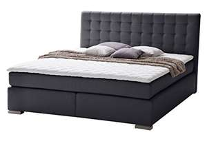 sette notti boxspringbett 180x200 schwarz boxspringbett mit visco topper mit memory effekt 7. Black Bedroom Furniture Sets. Home Design Ideas