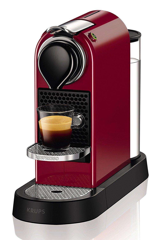 [amazon.de] Krups Nespresso XN7405 Kapselmaschine New CitiZ, cherry-rot