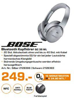 [Lokal Saturn Hamburg/Norderstedt] Bose QuietComfort 35 Wireless Kopfhörer in Schwarz oder Silber für je 249,-€